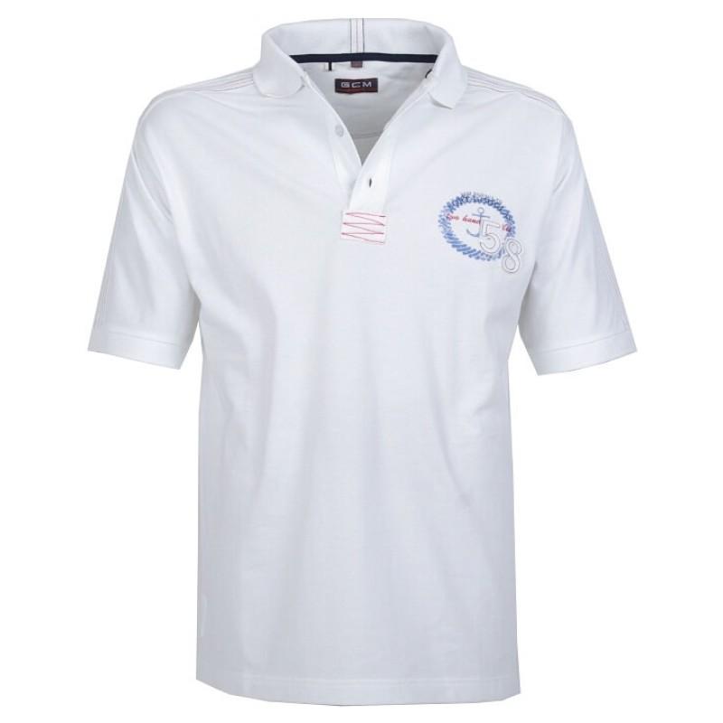 Μπλουζάκι Κοντομάνικο Μεγάλα Μεγέθη GCM 1608 Λευκό - King Sizes c96699a4685